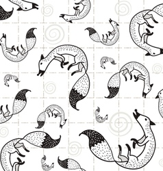 seamless Fox pattern D vector image vector image