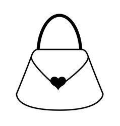 black icon purse cartoon vector image
