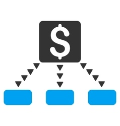 Cashout Scheme Flat Symbol vector image vector image