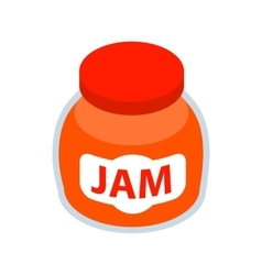 Jar of fruity jam icon isometric 3d style vector
