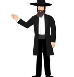 Orthodox jewish man vector image vector image