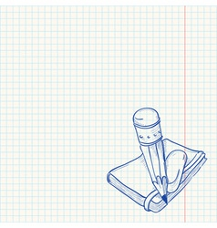 Pencil and Notebook vector image vector image