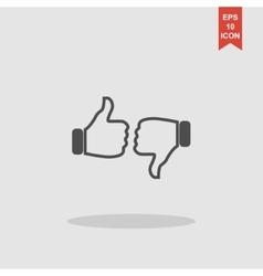 Thumb up icon flat design vector image