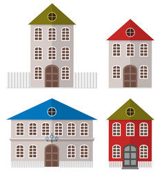 various multi-colored buildings vector image