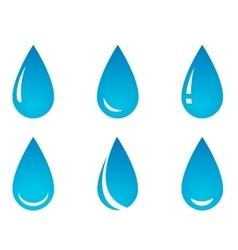 water droplet set vector image vector image