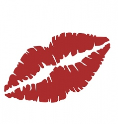 Close up of lips vector