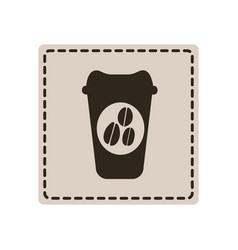 emblem coffee espresso icon vector image