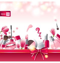 glamourous make-up background vector image