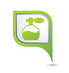 perfume icon on green pointer vector image