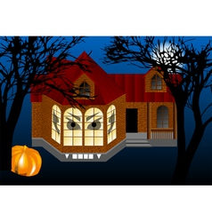 spooky house vector image