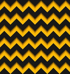 Black and yellow background 3D fiber zigzag vector image vector image