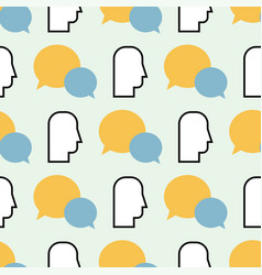 Colorful speech bubbles seamless pattern vector