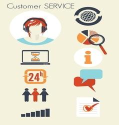 customer service2 resize vector image