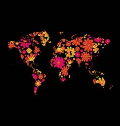 floral world vector image