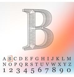 letter background Fonts vector image