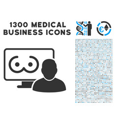 online erotics viewer user icon with 1300 medical vector image vector image