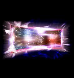 screen led brilliant beam big board vector image vector image