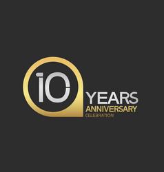 10 years anniversary celebration simple design vector