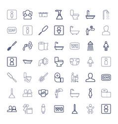 49 toilet icons vector