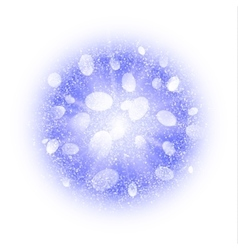 Abstract explosion with blue dust elements vector