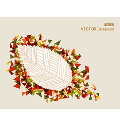 Abstract hand drawn leaf autumn concept EPS10 file vector