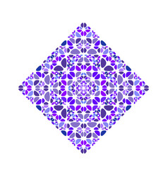 Abstract isolated colorful floral square symbol vector