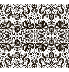 Abstract seamless pattern with flowers and dots vector