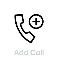 add call icon editable outline vector image