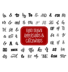 ampersand and catchword retro lettering vector image
