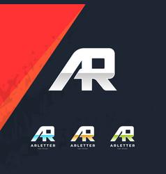 Ar letter logo design template vector