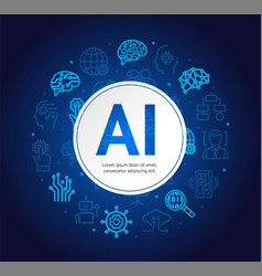 Artificial intelligence concept banner card vector