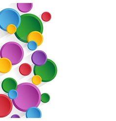 Background colored circles vector image