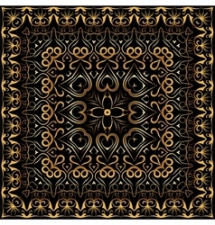 Bandanna with gold pattern vector