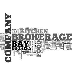 Bay brokerage text word cloud concept vector