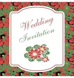 Beautiful floral invitation card vector