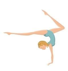 Beautiful gymnastic girl performing vector