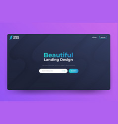 Beautiful landing page template design vector