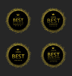black labels with confetti vector image
