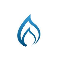 blue flames design concept vector image