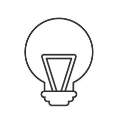 bulb light idea isolated icon vector image