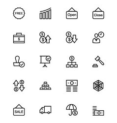 Business and Finance Line Icons 6 vector image