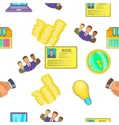 Business pattern cartoon style vector