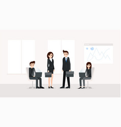business people working at office vector image