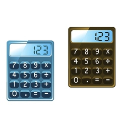 Calculator icons vector