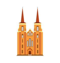 cathedral diocese of zeeland medieval cathedral vector image