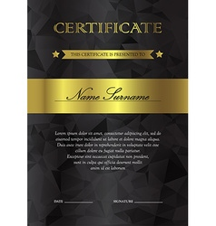 Certificate and diploma template vector image