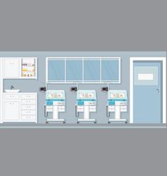 child care newborn bainside infant incubators vector image