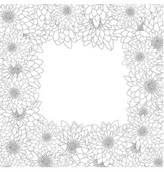chrysanthemum outline border vector image
