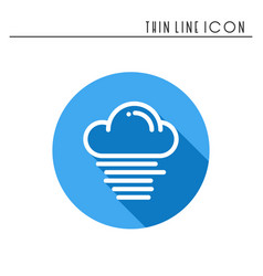 cloud sky fog mist line simple icon weather vector image