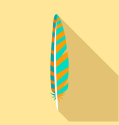 collection feather icon flat style vector image